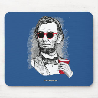 Abraham Lincoln Party Animal Mouse Pad