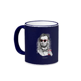 Abraham Lincoln Party Animal Ringer Coffee Mug