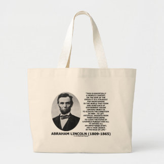 Abraham Lincoln People's Contest Union Race Life Large Tote Bag