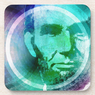 Abraham Lincoln Pop Art Coasters
