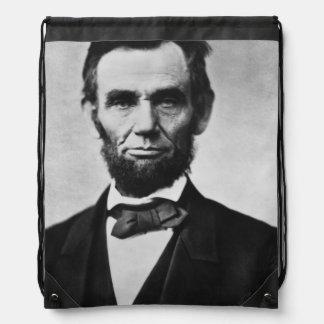 Abraham Lincoln Portrait Drawstring Backpack