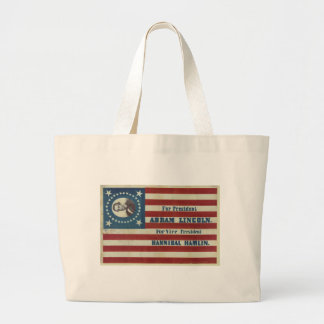 Abraham Lincoln Presidency Campaign Banner Flag Large Tote Bag