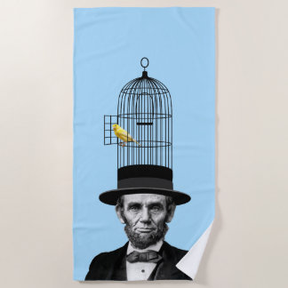Abraham Lincoln Presidential Fashion Statement Beach Towel