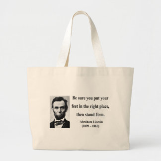 Abraham Lincoln Quote 16b Large Tote Bag