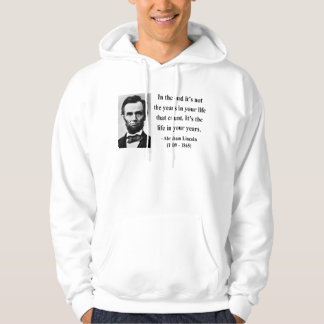 Abraham Lincoln Quote 2b Hoodie