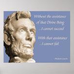 Abraham Lincoln Religion Print