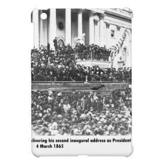Abraham Lincoln second inaugural address Washingto Cover For The iPad Mini