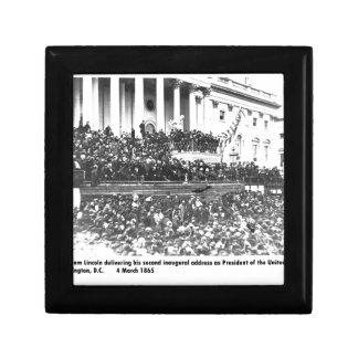Abraham Lincoln second inaugural address Washingto Gift Box