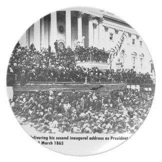 Abraham Lincoln second inaugural address Washingto Plate