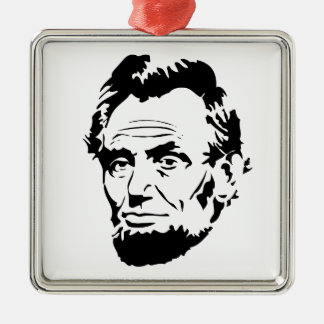 Abraham Lincoln Sketch Metal Ornament
