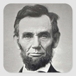 Abraham Lincoln! Square Sticker