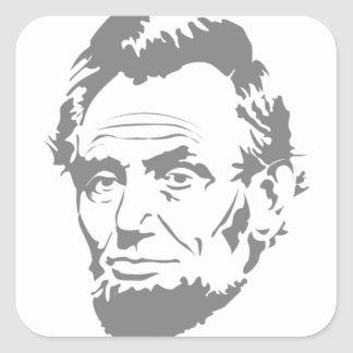 Abraham Lincoln Square Sticker