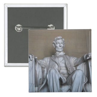 Abraham Lincoln statue 2 Inch Square Button