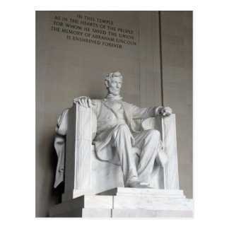 Abraham Lincoln Statue Lincoln Memorial Washington Postcard