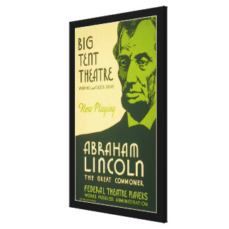 Abraham Lincoln The Great Commoner Canvas Print