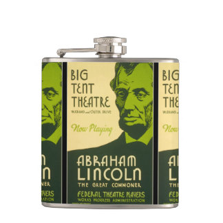 Abraham Lincoln The Great Commoner Hip Flask
