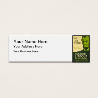 Abraham Lincoln The Great Commoner Mini Business Card