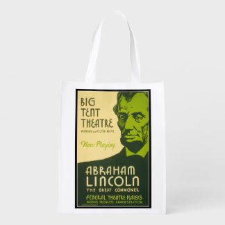 Abraham Lincoln The Great Commoner Reusable Grocery Bag