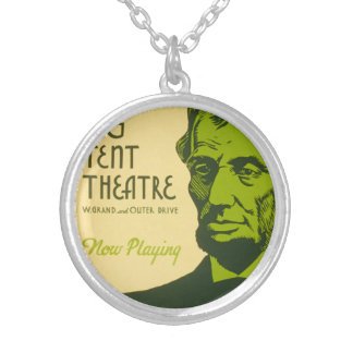 Abraham Lincoln The Great Commoner Silver Plated Necklace
