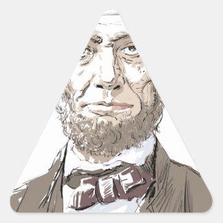 Abraham Lincoln Triangle Sticker