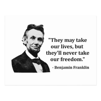 Abraham Lincoln Troll Quote Postcard