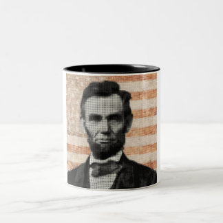 Abraham Lincoln Two-Tone Coffee Mug