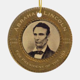 Abraham Lincoln Vintage Campaign Ceramic Ornament