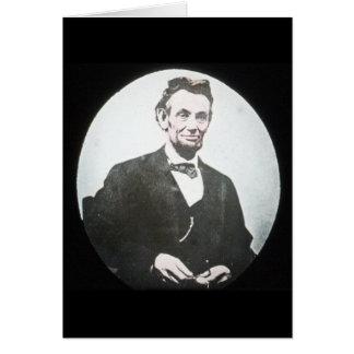 Abraham Lincoln Vintage Magic Lantern Slide Card
