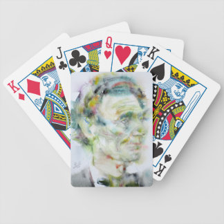 ABRAHAM LINCOLN - watercolor portrait Bicycle Playing Cards