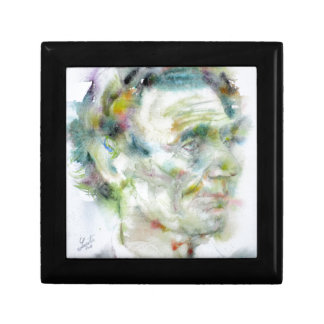 ABRAHAM LINCOLN - watercolor portrait Gift Box
