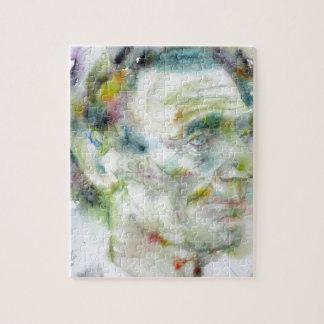 ABRAHAM LINCOLN - watercolor portrait Jigsaw Puzzle