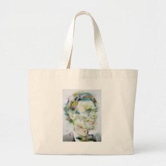 ABRAHAM LINCOLN - watercolor portrait Large Tote Bag