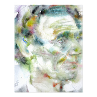 ABRAHAM LINCOLN - watercolor portrait Letterhead