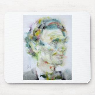 ABRAHAM LINCOLN - watercolor portrait Mouse Pad