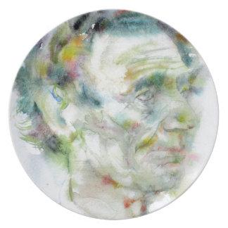 ABRAHAM LINCOLN - watercolor portrait Plate