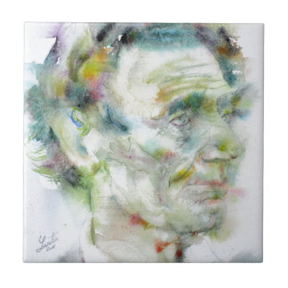 ABRAHAM LINCOLN - watercolor portrait Tile