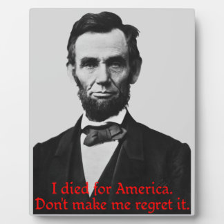 Abraham Lincoln's American Pride Plaque