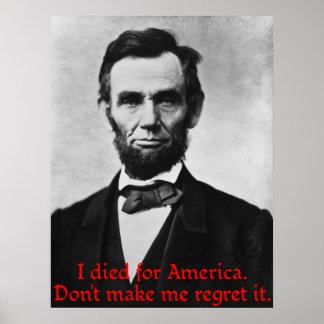 Abraham Lincoln's American Pride Poster
