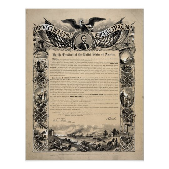 Abraham Lincoln's Emancipation Proclamation Poster