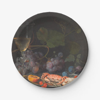 Abraham Mignon - Still Life With Crabs Paper Plate