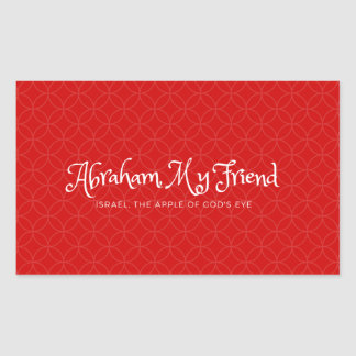 Abraham, My friend - sticker