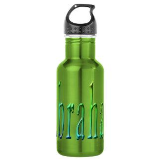 Abraham, Name, Logo, Green Reusable Water Bottle. 532 Ml Water Bottle