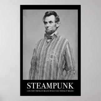 Abraham Steampunk Poster