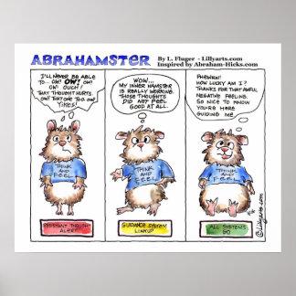 Abrahamster 3 Panel Cartoon Poster Print