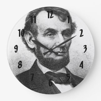 Abrahan Lincoln Large Clock