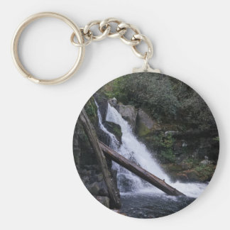 Abrams Falls Basic Round Button Keychain