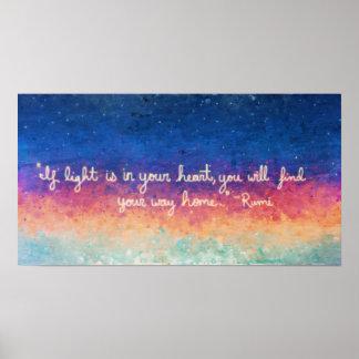 Abrégé sur citation de Rumi Affiche