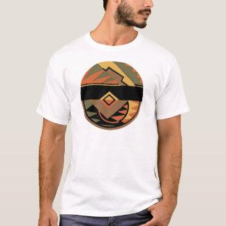 Abrégé sur géométrique cercle d'art déco t-shirt