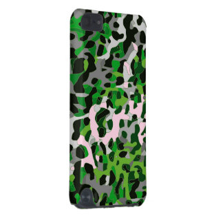 Abrégé sur gris vert fluorescent guépard coque iPod touch 5G