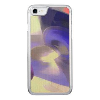 Abrégé sur rouge, blanc et bleu pastel coque carved iPhone 8/7